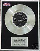 "HERMAN'S HERMITS - 7"" Platinum Disc -I'M INTO SOMETH"